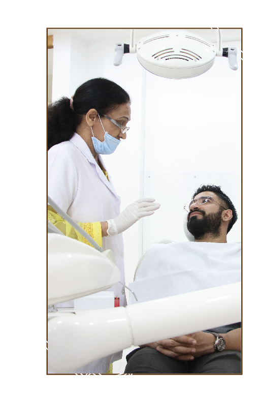 dentist asking patient condition